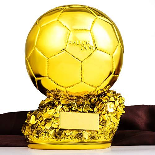 Aida Bz Gold Trophy Statuen, Copy Trophy des European Cup, Fußball-Spielball in Golden Harz, freier Druck,15 * 15 * 20cm