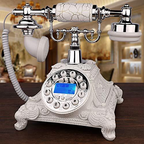 KQJH Teléfono Retro Antiguo, Teléfono Fijo Europeo Clásico, FSK/DTMF identificador de Llamadas de Sistema Dual, para la decoración Interior de la Familia del hogar