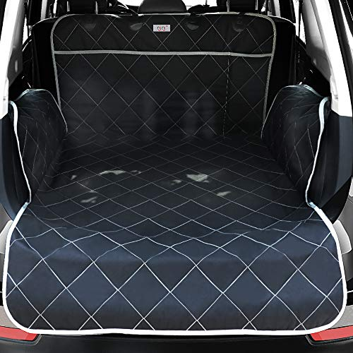 Pet Cargo Liner for SUV - Extra Large Pockets,Heavy Duty Durability Mats for Dogs,100% Waterproof Cargo Cover,Nonslip Backing,Bumper Flap Protector,Large Size Universal Fit