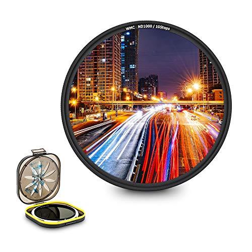 JJC - Filtro ND de Densidad Neutra ND1000 de 55 mm para Sony Alpha A1 A7C A7R A7S A9 + FE 28-70 mm F3.5-5.6 y Otra cámara con Lente de 55 mm, con Estuche de Filtro a Prueba de Humedad