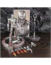 YSYSPUJ Actiefiguren USB LED Base Display Stand Ondersteuning Iron Man MK3 MK4 MK5 MK6 7 inch Actie Figuur Mark 2 3 4 5 6 Legends Pop Model