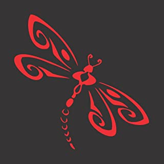 Barking Sand Designs Red Dragonfly - Die Cut Vinyl Window Decal/Sticker for Car/Truck 5