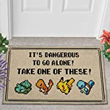 Take One of These Pokemon Indoor Mat, Customize Game Home Sweet Home Doormat,Retro Classic Game, Housewarming Wedding Gift, Personalized Gamer Home Doormat Rectangle doormats