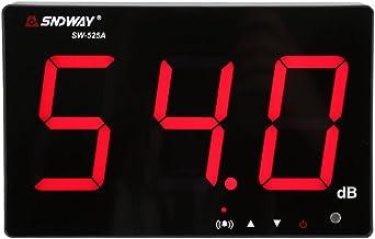 Geluidsniveaumeter, draagbaar, automatische gegevensopslag en alarm, digitale geluidsniveaumeter met LCD-display, meetbere...