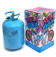 Heli-Box Tri Disposable Gas Bottle Cylinder Canister Fills 50x9 Inch Balloons, parties Weddings