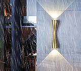 RXT Lámpara de Pared Exterior LED de Cintura pequeña Caliente Nueva, Reflector de luz Superior e Inferior Impermeable IP65 de Voltaje Completo Dorado