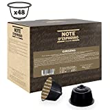 Note D'Espresso Cápsulas de Bebida Instantánea de Ginsen Exclusivamente Compatibles con cafeteras...