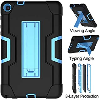 Galaxy Tab A 8.0 2019 Case P200/P205,UZER Three Layer Shockproof Anti-Slip Silicone High Impact Resistant Aromr Case with Kickstand for Samsung Galaxy Tab A 8.0 inch 2019 with S Pen (SM-P200/SM-P205)
