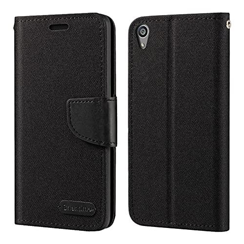 Capa para Sony Xperia Z5, capa carteira de couro Oxford com capa traseira magnética de TPU macio para Sony Xperia Z5