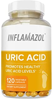 Inflamazol - Uric Acid Cleanse & Joint Support | Restore Joint Comfort, Mobility, Flexibility | Tart Cherry, Celery Seed, ...