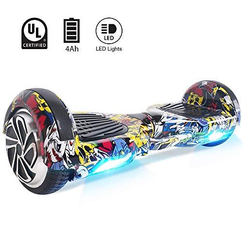BEBK Hoverboard 6.5' Smart Self Balance Scooter Elettrico Autobilanciato...