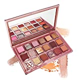 FREEORR 18 Colors Eye Shadow Palette Pearl Highly Pigmented Velvety Matte+ Shiny Glitter Metallics, Luxury Eyeshadow Palette Long Lasting,Waterproof, Easy to Blend Liberate and Embrace Yourself
