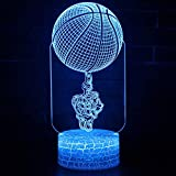 XKALXO 3D Night Light Led Finger Top Ball Theme Lamp Night Light 16 Color Remote Touch Control Mood Lamp Holiday Gift