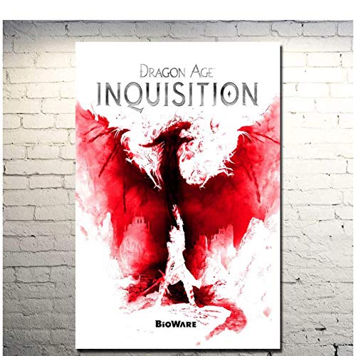 Dragon Age Inquisition Hot Game Art Poster Print Wall Pictures Wall Art Posters Pintura Imprimir Sala de estar Decoración para el hogar -50x70cm Sin marco