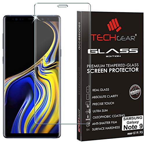 TECHGEAR Screen Protector for Galaxy Note 9-3D GLASS Edition FULL Screen Coverage Tempered Glass Screen Protector Guard Cover Compatible with Samsung Galaxy Note 9 (Clear)