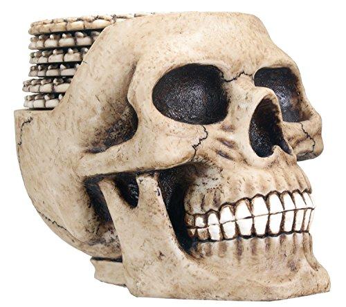Skull Coaster Set (6 Coasters) Collectible Skeleton Gothic Decoration