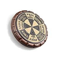 STINGER エルゴスピン コルクコースター ドリンク用 ウイスキーグラス ショットグラス オリジナルユニーク スピニングリングデザイン ホームバー キッチンに不可欠 ルーレットドリンクゲーム 1枚