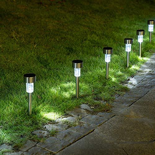 Sowsun Solar Pathway Lights Outdoor ,Solar Powered Landscape Garden Lights for Pathway ,Lawn, Patio, Yard,Path,Walkway Decoraiton-12 Pack(white)