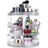 Awenia Organizador de Maquillaje Giratorio 360 Grados Organizador de Cosméticos Transparente Acrílico, con 7 Bandejas Ajustables, para Baño Dormitorio, 28 * 38cm (Claro)