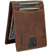 Vemingo Minimalist Slim Leather Bifold Wallets