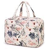 Bolsa de aseo grande para colgar en viaje, bolsa de maquillaje, organizador de cosméticos para mujeres y niñas