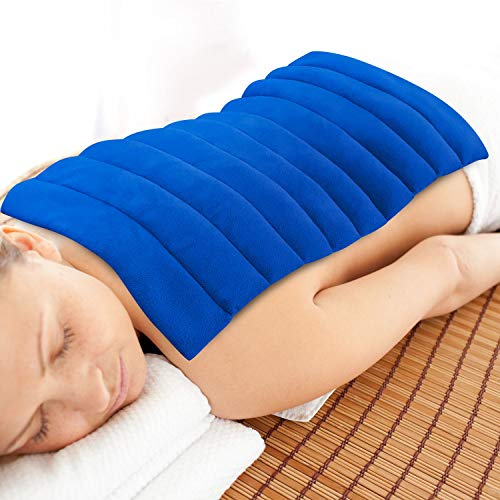 Heating Pad Microwavable Natural Moist Heat Therapy Warm Compress Pad w/ Washable Cover For Back , Neck and Shoulders , Nerve , Cramps , Lower Lumbar Pain Relief Large By ComfortCloud