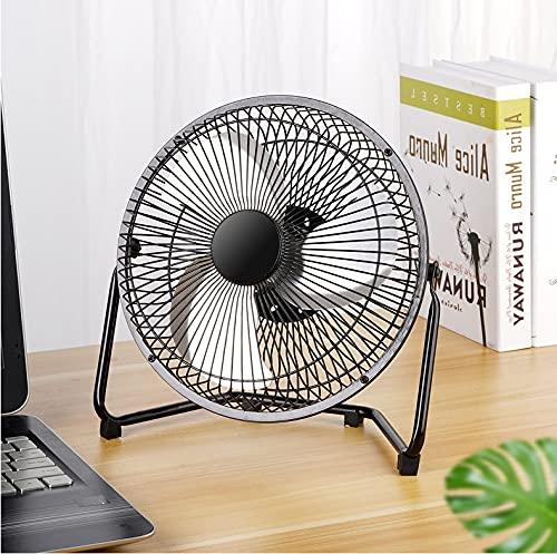 Ventilador USB de escritorio de 6 pulgadas, ventilador de mesa USB para enfriamiento personal, ventilador de escritorio pequeño de 360 grados de rotación de 360 grados Funcionamiento de aire mejor