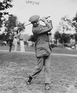 1800s photo Vardon Mr. Vardon swinging golf club. Vintage Black & White Photo g9