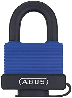 ABUS 70/45 All Weather  Solid Brass Weatherproof Padlock Blue Keyed Alike - Stainless Steel Shackle