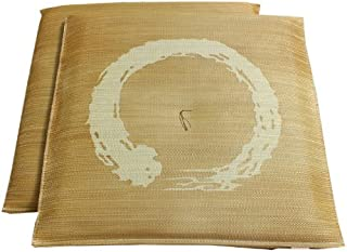 イケヒコ い草 座布団 国産 捺染返し 『『大関 2枚組』 ブラウン 約55×55cm×2P