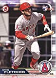 2019 Bowman #49 David Fletcher Los Angeles Angels Rookie Baseball Card. rookie card picture