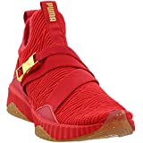 PUMA Defy Mid Varsity Ribbon Red/Metallic Gold 7.5