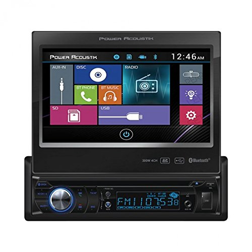 Power Acoustik PD-724B 1-DIN Source Unit with Bluetooth/Motorized 7' LCD