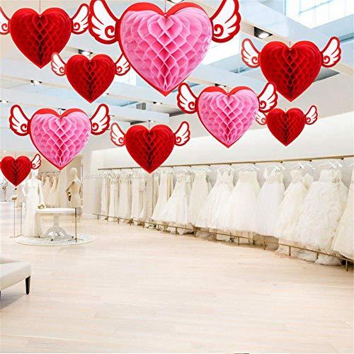 MZYKA 12 unids Angel Love Colgante Decoraciones, Día de San Valentín Cumpleaños Colgantes de Boda, Centro Comercial Pendientes de decoración,centros comerciales, Joyería Techo Decoraciones de Techo