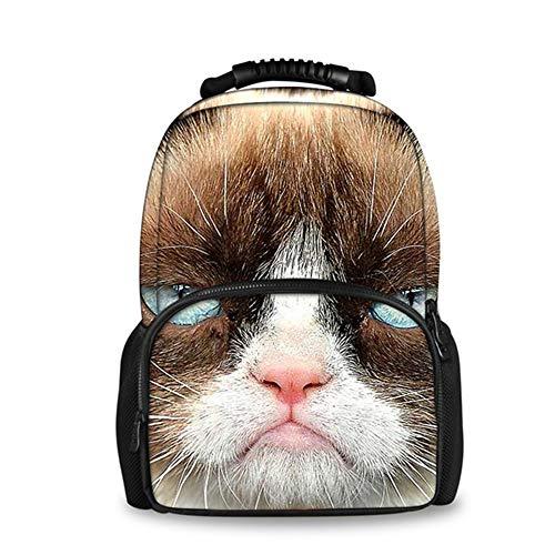 fhdc Mochila Animal 3D Cat Printing Mochila para Mujeres Laptop De Viaje Mujer Mochilas De Fieltro Paquete Diario De Gran Capacidad SacH3430A