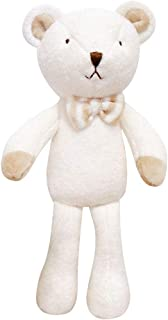 Blessnature] 100% Organic Stuffed Animal, Baby Doll, Tri-Colored Plush Toy (Bear Doll Bebe)