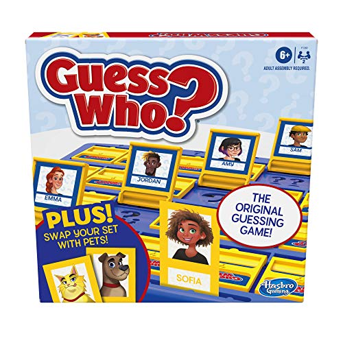 Hasbro Gaming Guess Who? Board Game with People and Pets, The Original Guessing Game for Kids Ages 6 and Up, Includes People Cards and Pets Cards