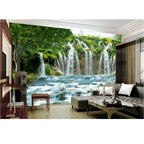 Hyllbb Nature Waterfall Wallpaper Mural Para Sala De Estar 3D Photo Cloth Paper Wall Paper Papel De Parede Tree Contact Paper Custom-140Cmx100Cm