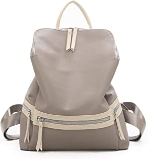 Stylish Personality Oxford Cloth Backpack Travel School Shoulder Bag Daypack (Color : Khaki)