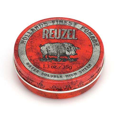REUZEL Red Pomade Water Soluble High Sheen, 1er Pack (1 x 35 g)