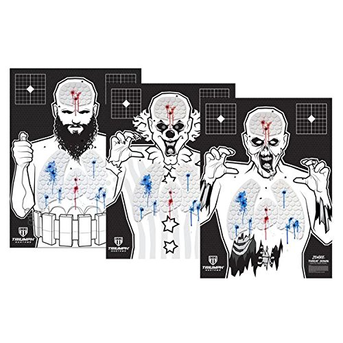 Threat Down Silhouette CTZ Bundle | Reactive Target | Shooting Target | Splatter Target | Target for Shooting Range | Shooting Target | Gun Target