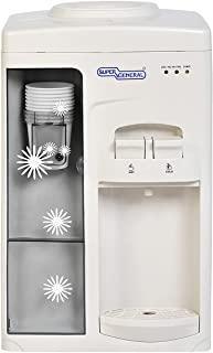 Super General Counter-top Hot and Cold Water Dispenser, Water-Cooler with Cup-holder, Instant-Hot-Water, 2 Taps, SGL-1131,...