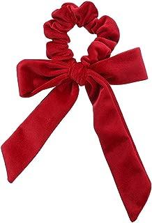 DARLING HER Velvet Scrunchies Elastic Hair Band Bow Hair Ropes Girls Hair Ties Women Hair Accessories Sweet Women Head Band