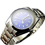 Mechanische Herren-Armbanduhr, 41 mm, blaues Zifferblatt, automatisch, Saphirglas, Edelstahl, mechanisch