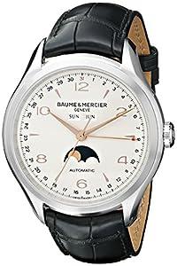 Baume & Mercier Men's BMMOA10055 Clifton Analog Display Swiss Automatic Black Watch