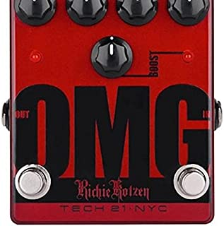 2014 Tech 21 Richie Kotzen OMG Sansamp Guitar Overdrive-Effect Effects Pedal Red