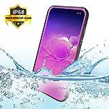 BDIG Hülle S10 Plus Wasserdicht, 360 Grad Rundum Schutz mit Eingebautem Displayschutz Outdoor TPU Transparent Bumper Stoßfest Handyhülle Schutzhülle Kompatibel mit Galaxy S10+ (S10 Plus 6.4', Pink)