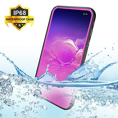 BDIG Hülle S10 Plus Wasserdicht, 360 Grad Rundum Schutz mit Eingebautem Displayschutz Outdoor TPU Transparent Bumper Stoßfest Handyhülle Schutzhülle Kompatibel mit Galaxy S10+ (S10 Plus 6.4