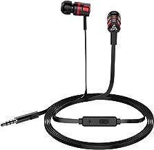 Docooler - Fones de ouvido intra-auriculares com fio PTM, fones de ouvido estéreo para jogos com controle integrado e micr...