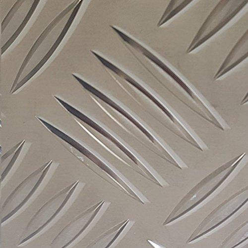 Aluminium Riffelblech QUINTETT 1000x1000mm 5/6,5mm stark große Auswahl Tränenblech Schachtabdeckung, Brunnenabdeckung, Lochabdeckung 100x100cm